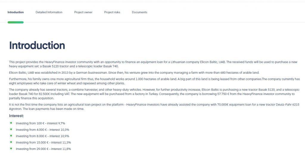 Heavyfinance - informace k půjčce