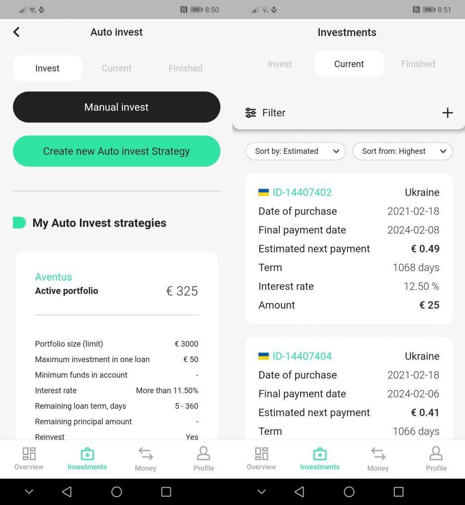 eerberry mobilní aplikace - Autoinvest