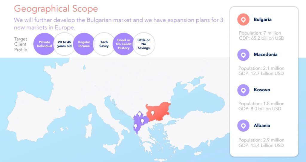 StikCredit - geographical markets and planned expansion