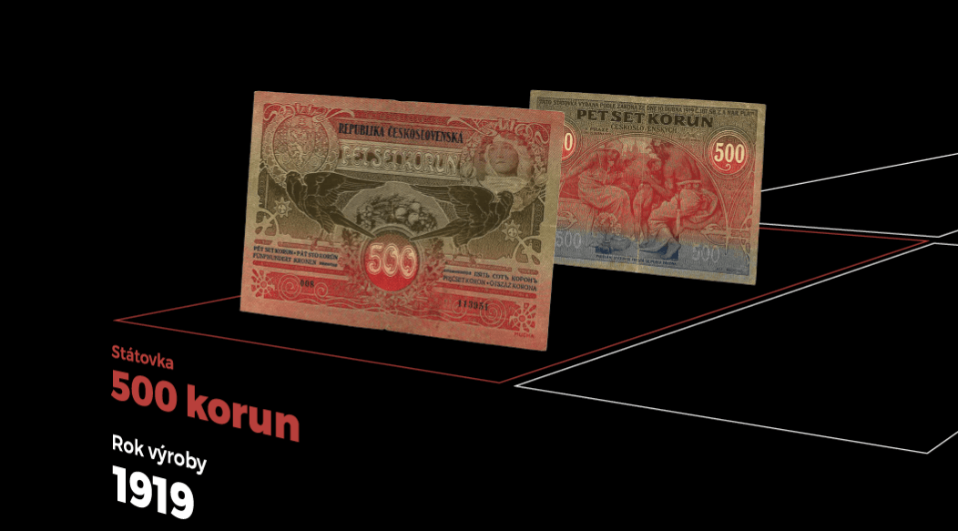 Státovka 500 korun – r. 1919 (od 15.4. 10:00)