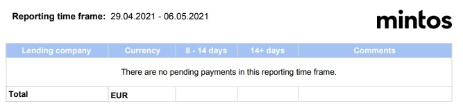 Mintos - nová verze Pending Payments